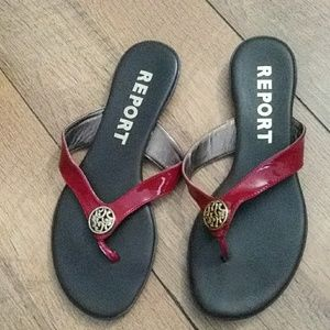REPORT Brand thong sandals